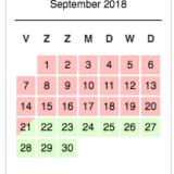 maandkalender beschikbaar